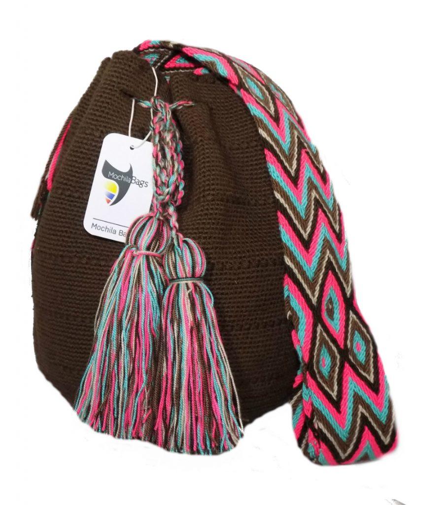 Plain wayuu mochila bag