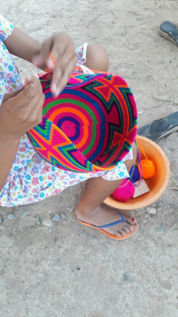 Wayuu women weaving