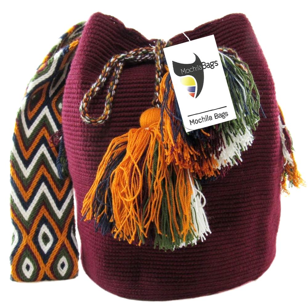 Mochilas Wayuu Unicolor